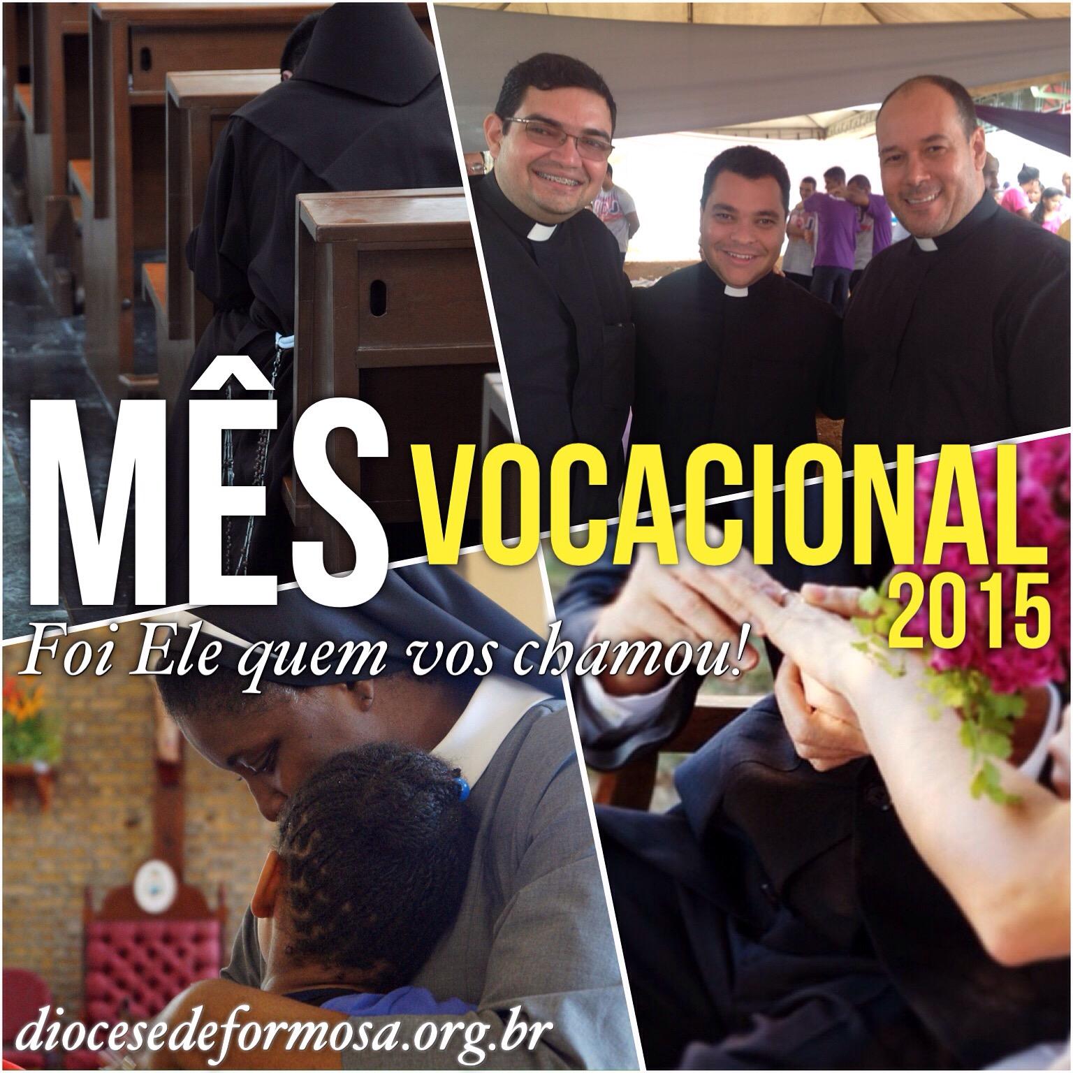 Neste mês a Igreja celebra as vocações  sacerdotal, diaconal, religiosa,  familiar e leiga. É um mês voltado para a reflexão e a oração pelas  vocações e os ... 87c0728a65